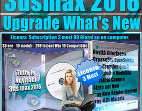 Corso 3ds max 2016 Upgrade What New 3 Mesi various