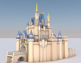 3D model Low Poly Cinderella Disney Castle Landmark