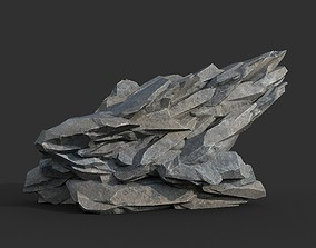 Low poly Gray Rock Formation 17 190421 3D model