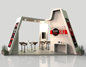 3D model Booth Exhibition 3