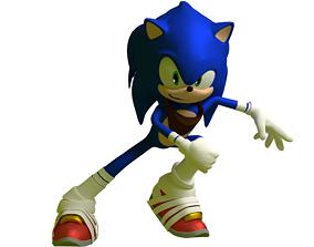 rigged Sonic Boom Sonic Hedgehog Model