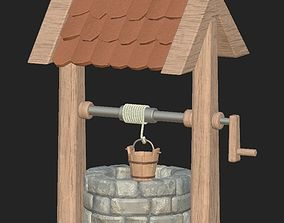 3D model Cartoon stone well