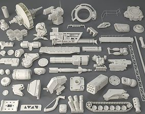 Kit bash - 54 pieces - collection-7 3D model