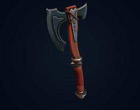 knife Battle axe 3D model realtime