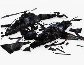 3D model Crashed Aircrafts Pack