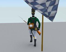 3D model BAVARIA 1806 JAGER light infantery LOW POLY
