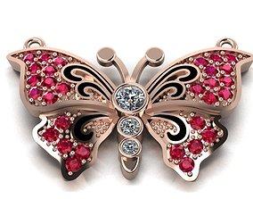 3D print model butterfly necklace invertebrate