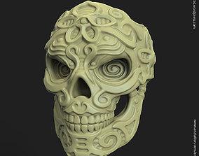 ornament Biker Skull vol12 ring 3D print model