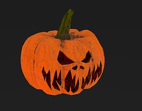 Halloween Pumpkin Low-poly 3D model rigged