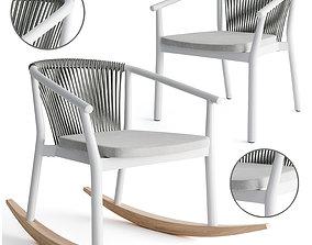 Varaschin rocking and smart armchair 3D