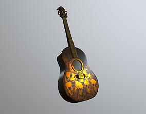 3D model low-poly Guitar