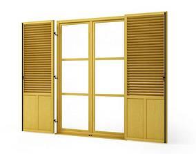 Wooden window shutters 76 am95 3D
