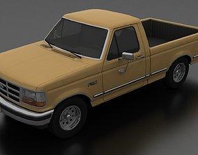3D asset F-150 Pickup 1992 Regular Cab Short Box
