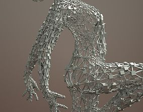 Ballerina Dancer Abstract Sculpture 5 3D