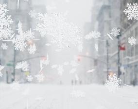 Realistic snowflake 3D