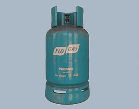 3D model Gas Cylinder Blue