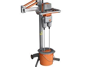 3D asset Drill mixer RIDGID