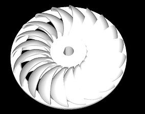 3D print model Turgo Turbine Closed