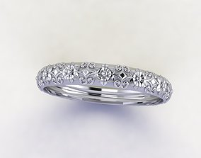 3D print model Antique style wedding band