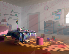 Asset - Cartoons - Bedroom- 03 - 3D Model