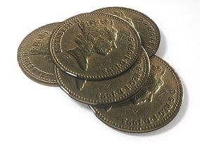 3D model One pound British coin