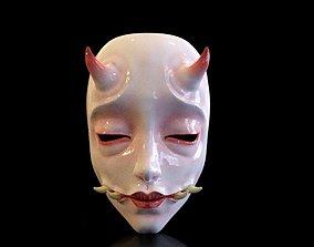 mask Japan japanese horror style 3D printable model