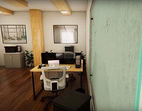 Office Interior Room 3D model VR / AR ready