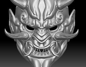 3D model Japanese demon mask