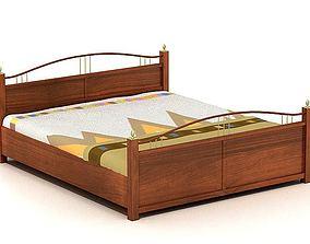 3D model Bed Grey Modern