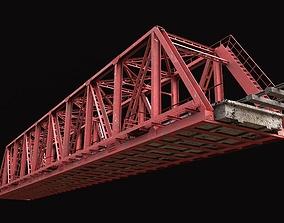 Railway bridge 3D model exterior