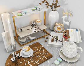 decorative set 24 cutting 3D