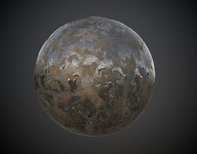 3D model Metal Rusted Old Seamless PBR Texture