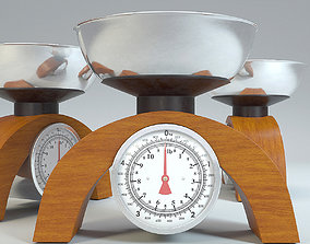 Kitchen Vintage Scale 3D