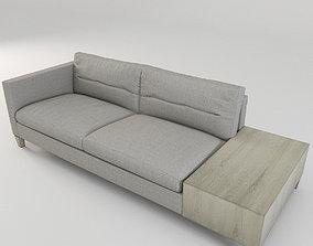 3D model Bernhardt Sovrano Left Arm Sofa seating