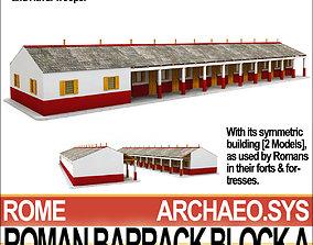 3D Roman Barrack Block A
