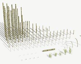 3D model Bamboo Stakes Kitbash