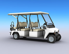 3D model game-ready Golf Cart