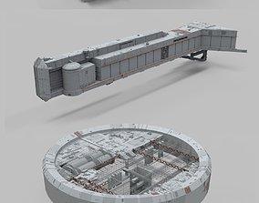 3D Sci-Fi architecture Elements collection 11