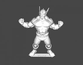 Barbarian hero with helmet 3D print model