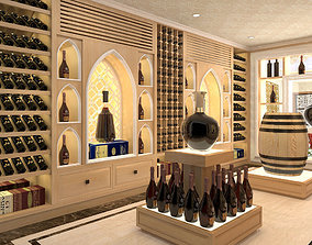 3D Wine room restaurant
