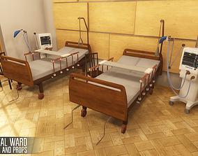 Hospital ward - interior and props 3D asset