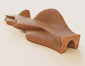 Parametric bench for kids 3D