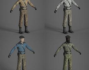 Terrorist separatist 3d model pack animated