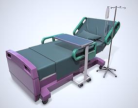 Cartoon Patient Bed 3D