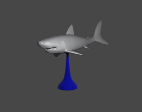3D print model WHITE SHARK ON A STAND