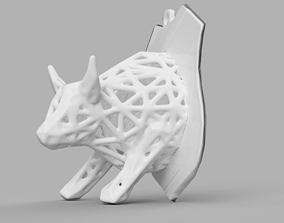 3D printable model taureau voronoi