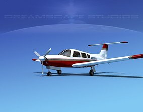3D model Piper PA-28R-201 Arrow III V17