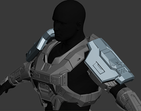 Wearable Reach Commando Shoulder 3D Print File