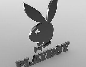 playboy logo 3D
