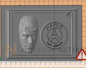 Neymar Jr - Paris Saint Germain - 3D print ready frame 1